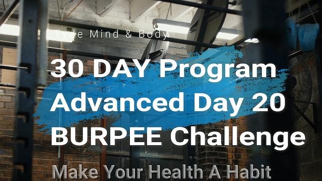 Day 20 & Day 30 Burpee Challenge