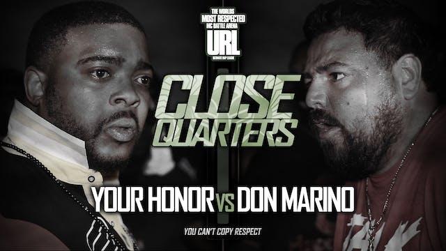 YOUR HONOR VS DON MARINO