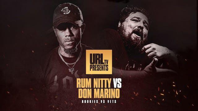 RUM NITTY VS DON MARINO