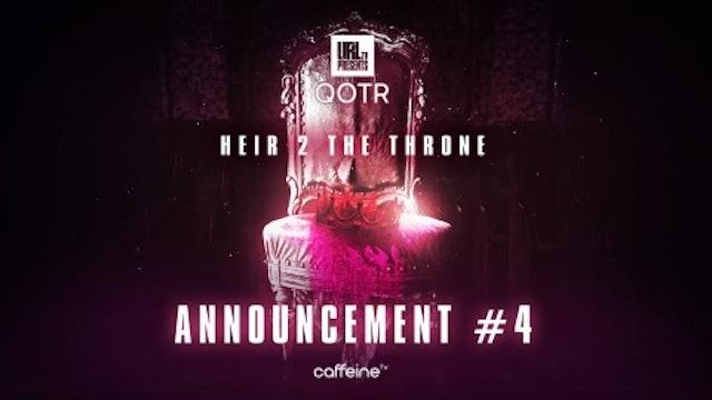 ANNOUNCEMENT 4 - HEIR 2 THE THRONE