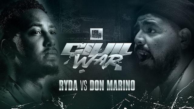 RYDA VS DON MARINO