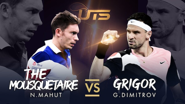 WARM UP - DIMITROV vs MAHUT