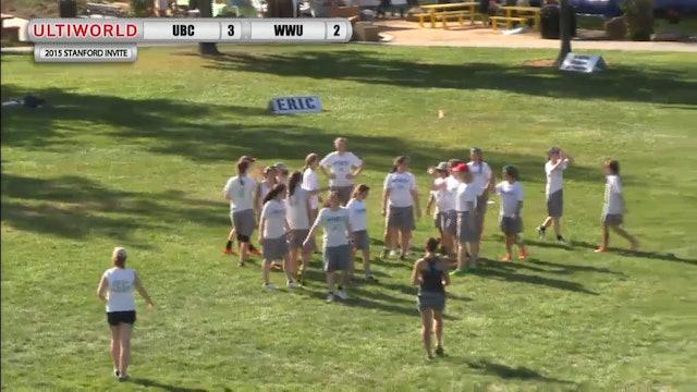 UBC vs. Western Washington | Women's Prequarterfinal | Stanford Invite 2015