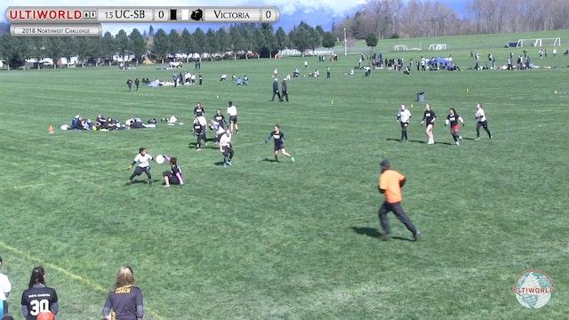 Northwest Challenge 2018: #15 UC-SB v Victoria (W Pool)