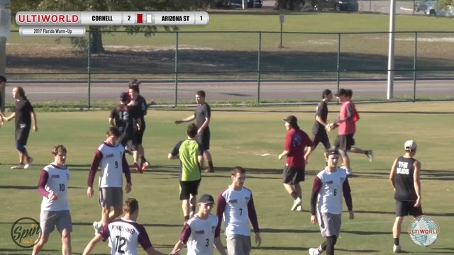 2017 Florida Warm Up: Cornell v Arizona State (Pool) presented by Spin Ultimate