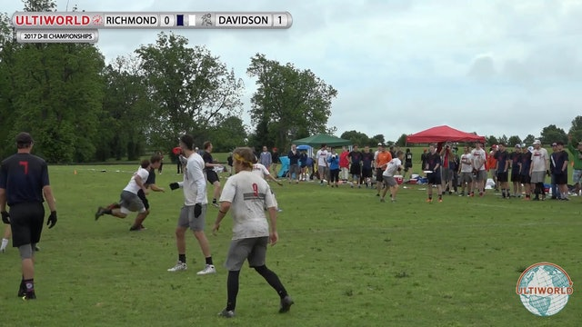 2017 D-III College Championships: Richmond v. Davidson (Men's Final)