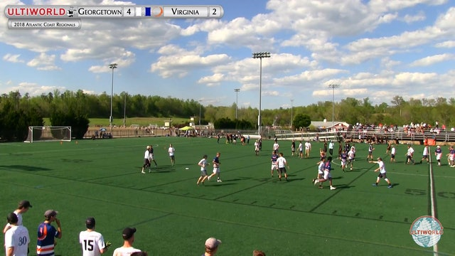 Georgetown vs. Virginia | Men's Semifinal | Atlantic Coast Regionals 2018
