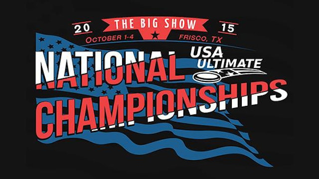 National Championships (2015 Club Men's/Women's/Mixed)