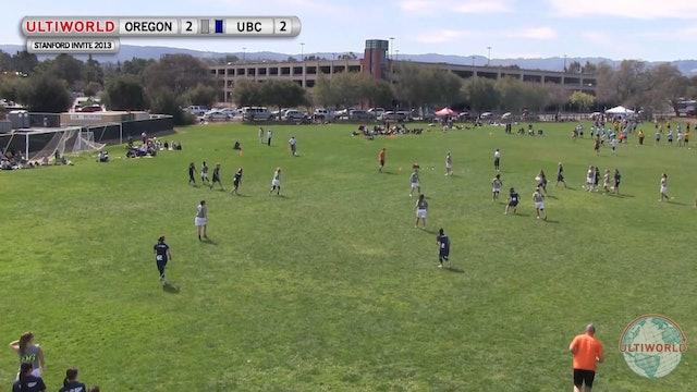Stanford Invite 2013: Oregon vs British Columbia (W Semi)