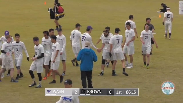 Stanford Invite 2018: #6 Brown v #11 Washington (M)