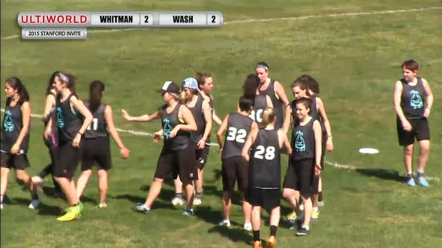Whitman vs. Washington | Women's Pool...