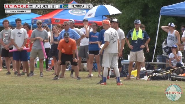 #10 Florida vs. Auburn (M Game-to-Go, 2016 SE Regionals)