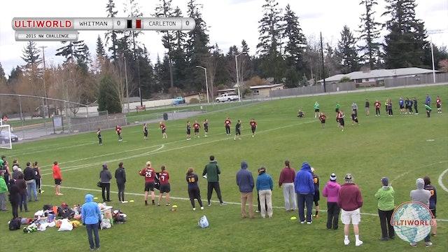 Northwest Challenge 2015: Whitman v Carleton (W)