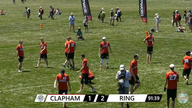 WUCC 2018: Ring of Fire (USA) v. Clapham (GBR)