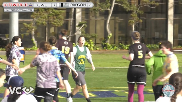 2017 Presidents' Day Invite - Cal v. Oregon (W Pool) presented by VC Ultimate