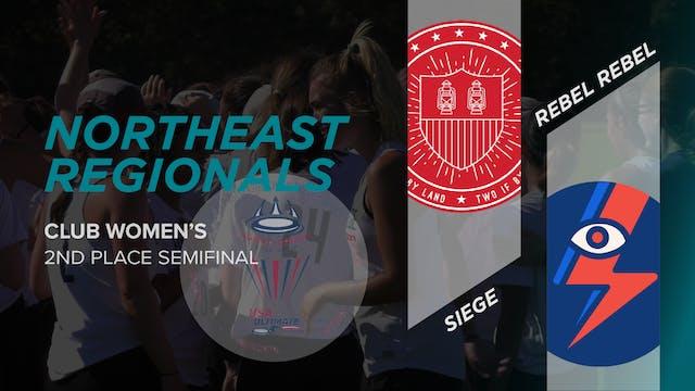 Siege vs. Rebel Rebel | Women's 2nd Place Semifinal
