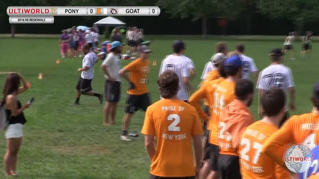 PoNY vs. GOAT | Men's Semifinal | Northeast Regionals 2016
