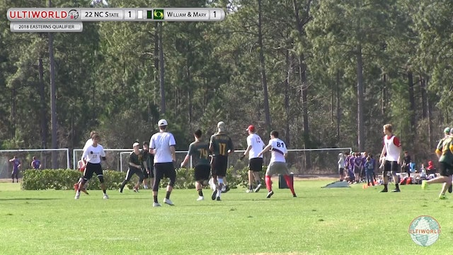 NC State vs. William & Mary | Men's Semifinal | Eastern's Qualifier 2018