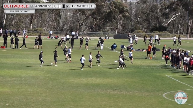 President's Day Invite 2018: #4 Colorado v #3 Stanford (W Final)