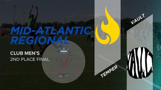 Temper vs. Vault | Men's 2nd Place Final