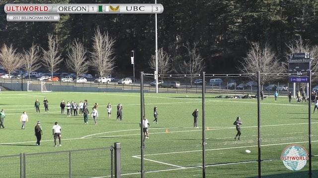 2017 Bellingham Invite - Oregon v. UBC (W)
