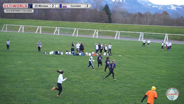 Northwest Challenge 2018: #25 Whitman v Cal (W 9th Place Semifinal)