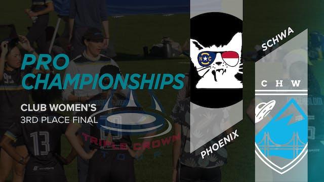 Phoenix vs. Schwa | Women's 3rd Place