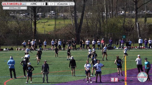 Women's Northwest Challenge 2019: #4 UNC vs #5 Carleton (W 3rd Place)