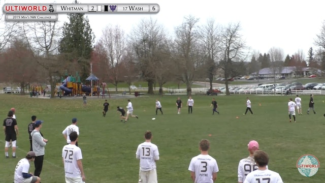 Men's Northwest Challenge 2019: #17 Washington vs Whitman (M)