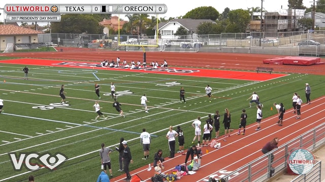2017 Presidents' Day Invite - Texas v. Oregon (W Pool) presented by VC Ultimate