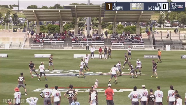 2019 D-I College Championships: #11 NC State vs #1 Brown (M)