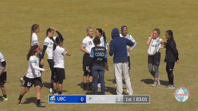 Stanford Invite 2018: #3 UBC v #5 UCSD (W Final)