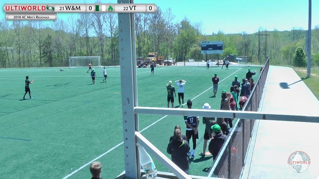 William & Mary vs. Virginia Tech | Men's 2nd Place Semifinal | AC Regionals 2018