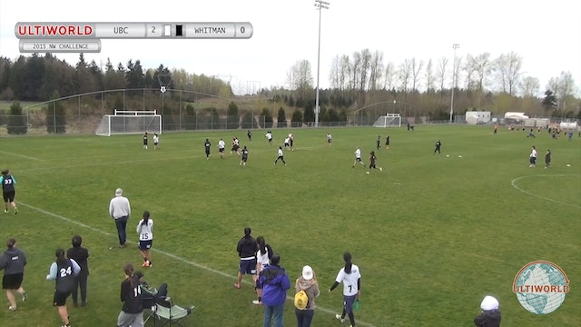 Northwest Challenge 2015: British Columbia v Whitman (W)