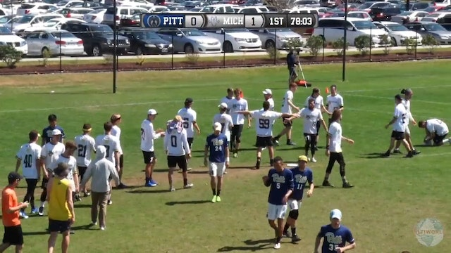 Easterns 2017: Pittsburgh v. Michigan (M Semifinal)