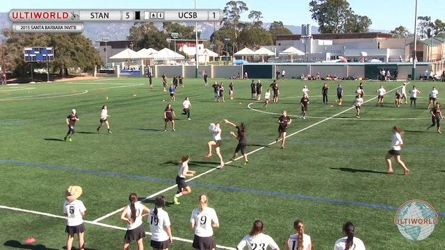 Santa Barbara Invite 2015: Stanford v UC-Santa Barbara (W Final)