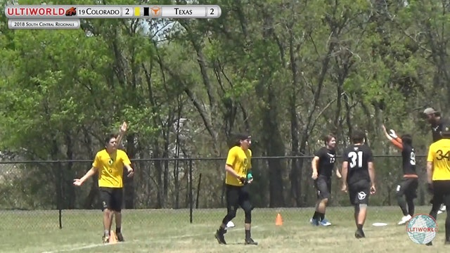 Colorado vs. Texas | Men's Final | South Central Regionals 2018