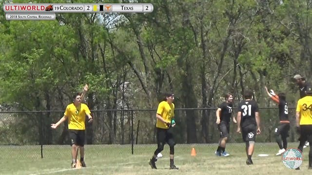 SC: #19 Colorado v Texas (M Game to Go)