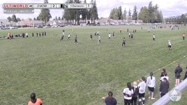 Northwest Challenge 2018: #1 Dartmouth v #2 UC-SD (W Final)