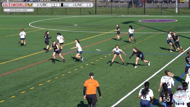 Women's Northwest Challenge 2019: #21 UBC vs #4 UNC (W Semi)