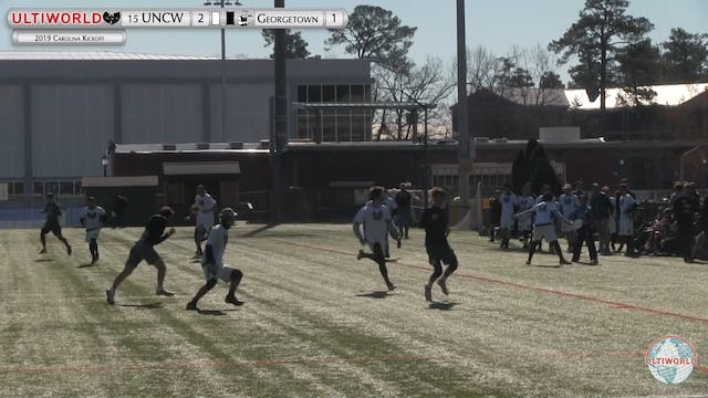 Carolina Kickoff 2019: #15 UNCW vs Georgetown (M)