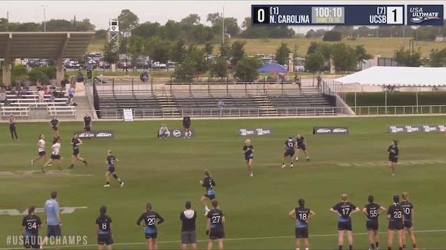 North Carolina vs. UCSB | Women's Quarterfinal | D-I College Championships 2019