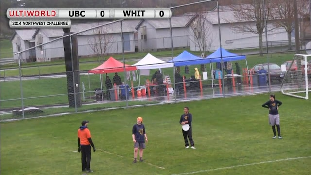 Northwest Challenge 2014: British Columbia vs Whitman (W)