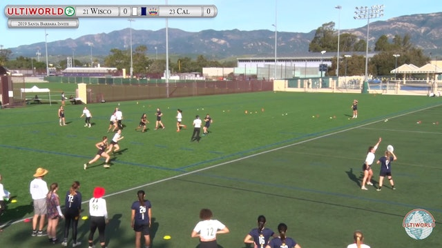 Santa Barbara Invite 2019: #23 Cal vs #21 Wisconsin (W)