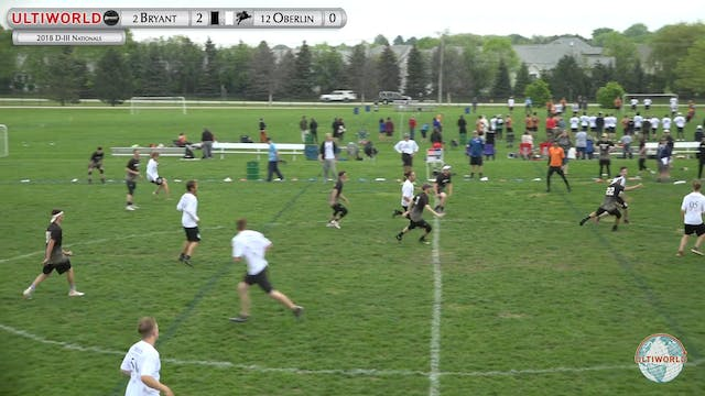 D-III Nationals: Bryant v Oberlin (M ...