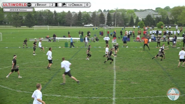 D-III Nationals: Bryant v Oberlin (M Pool)