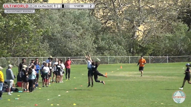 UCSB vs. Cal Poly SLO | Women's 3rd Place Final | Southwest Regionals 2018