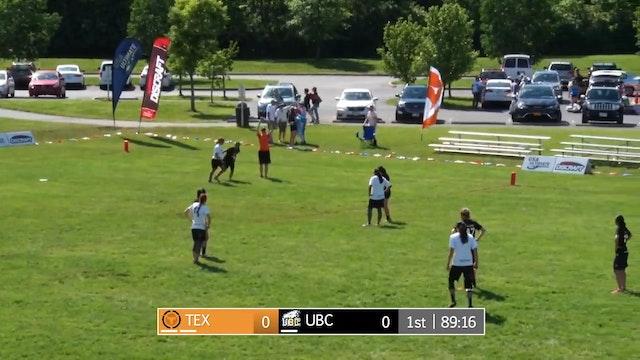 2017 D-I College Championships: Texas v. UBC (W Pool Play)