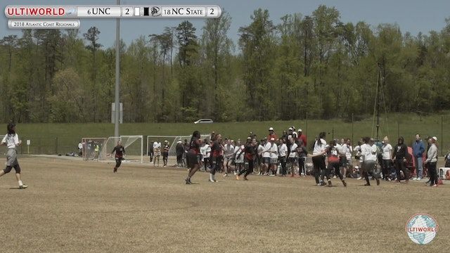 AC: #6 UNC v #18 NC State (W 1st Game to Go)