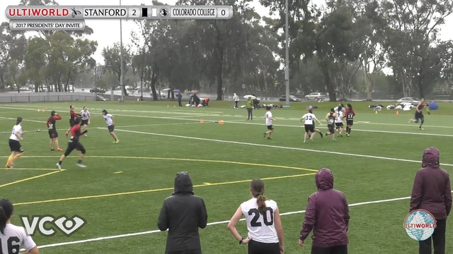 2017 Presidents' Day Invite - Stanford v. Colorado College (W Pool) presented by VC Ultimate
